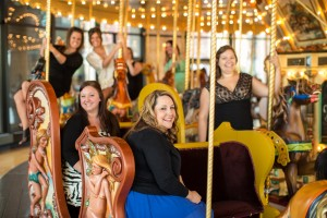Guests of rental event on Spillman Carousel