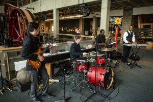 Band playing for event