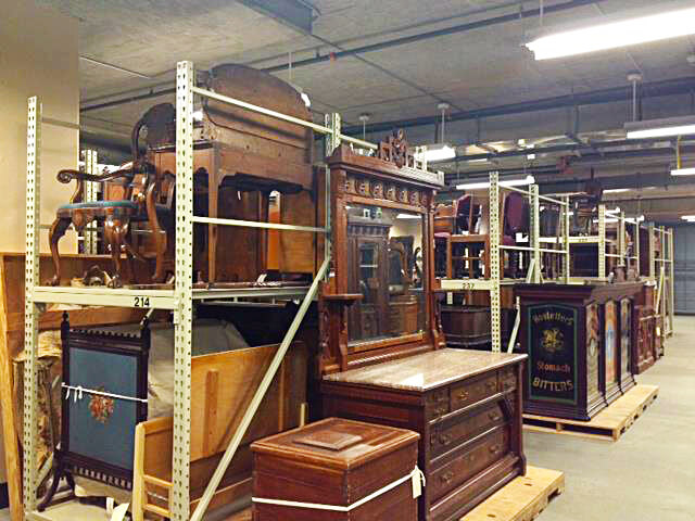 Furniture in Collections storage