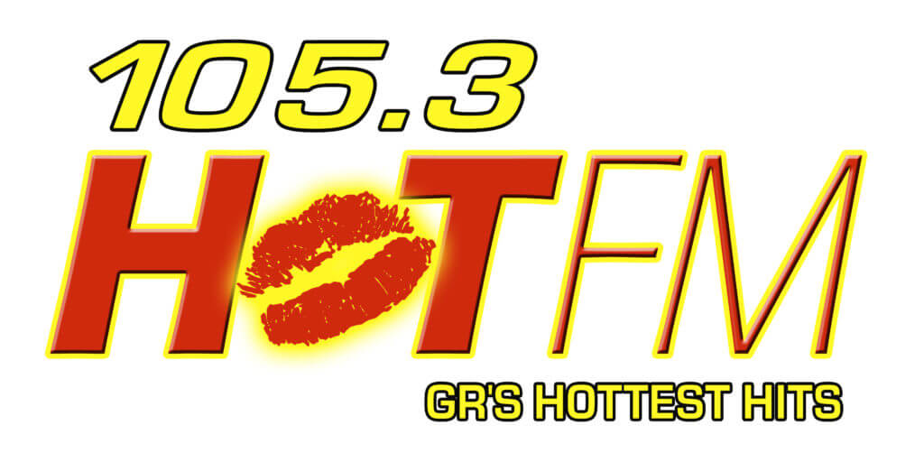 105.3 HOT FM GR's Hottest Hits radio Logo