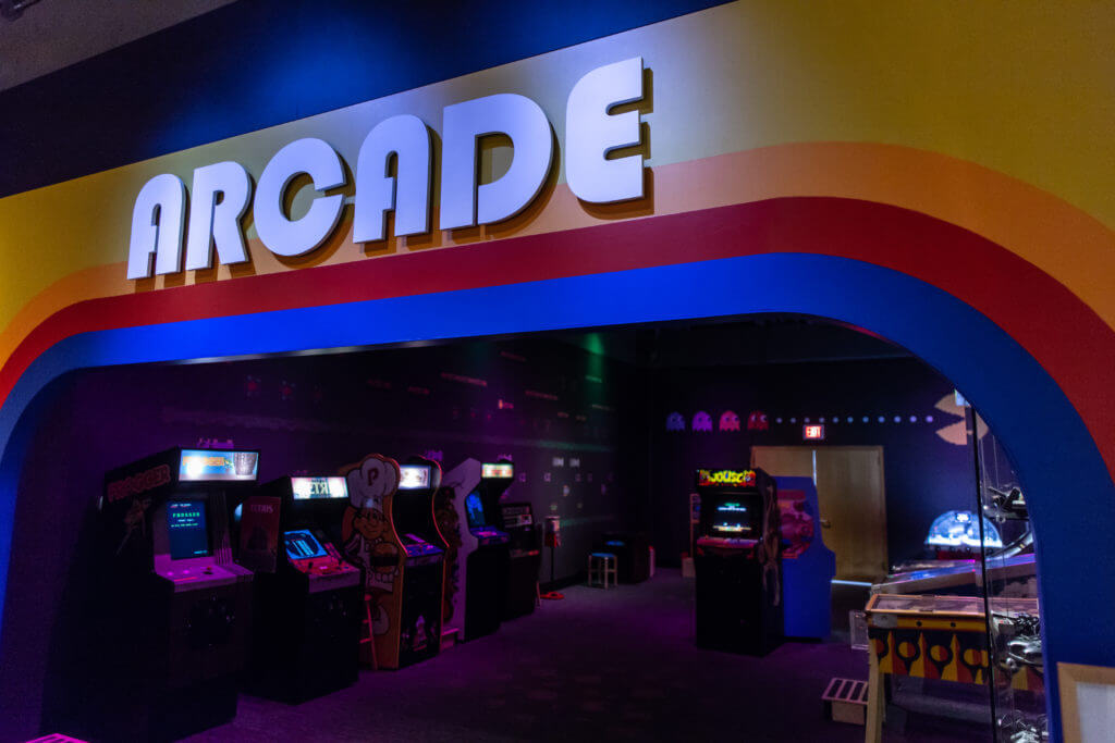 1980s Arcade in TOYS exhibit
