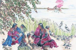 Anishinabe Women by the river.